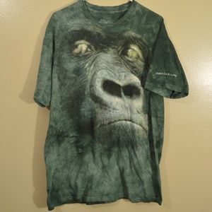 Y2K The Mountain Big Gorilla Tie Dye Green Zoo
